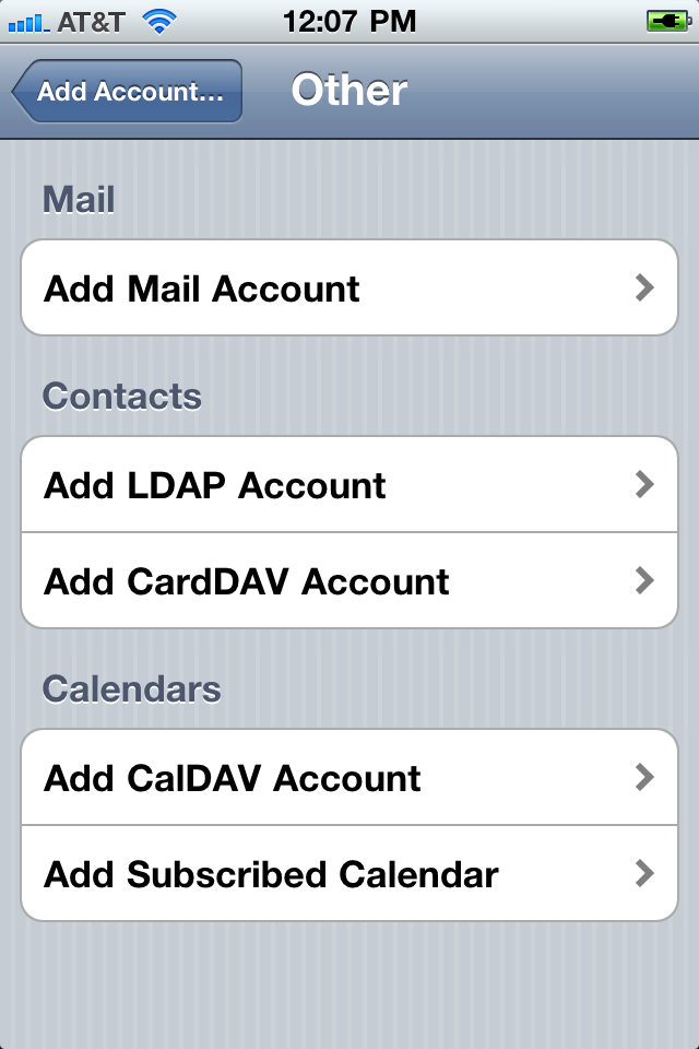 Caldav problems on IPhone google